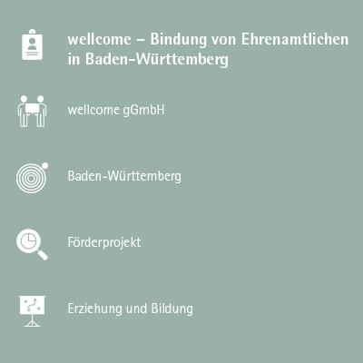 wellcome – Bindung von Ehrenamtlichen in Baden-Württemberg