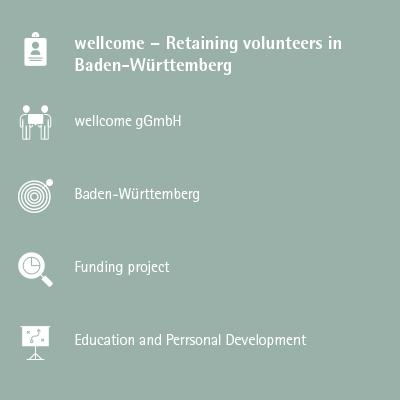 wellcome – Retaining volunteers in Baden-Württemberg